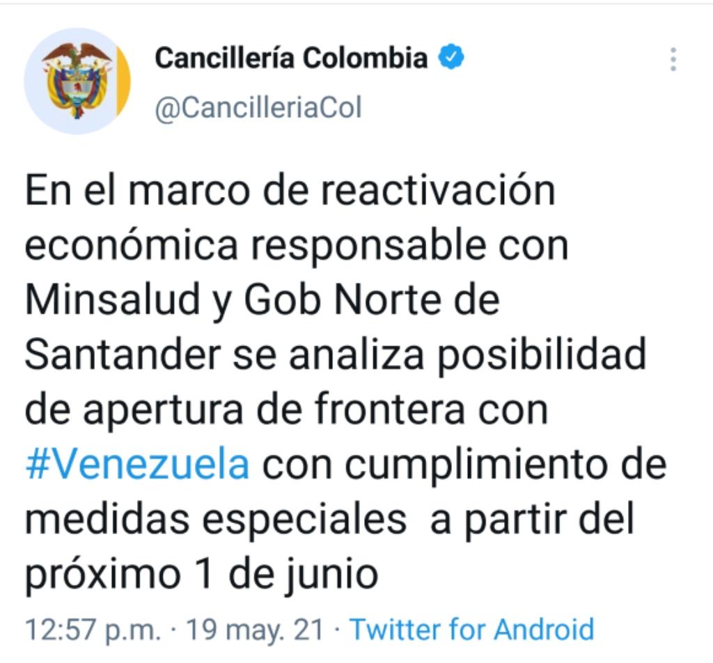 La Cancillería anunció la posibilidad de la reapertura fronteriza.