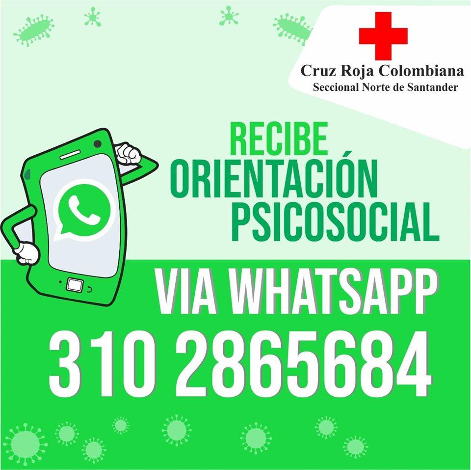 La Cruz Roja está brindando la orientación en Norte de Santander