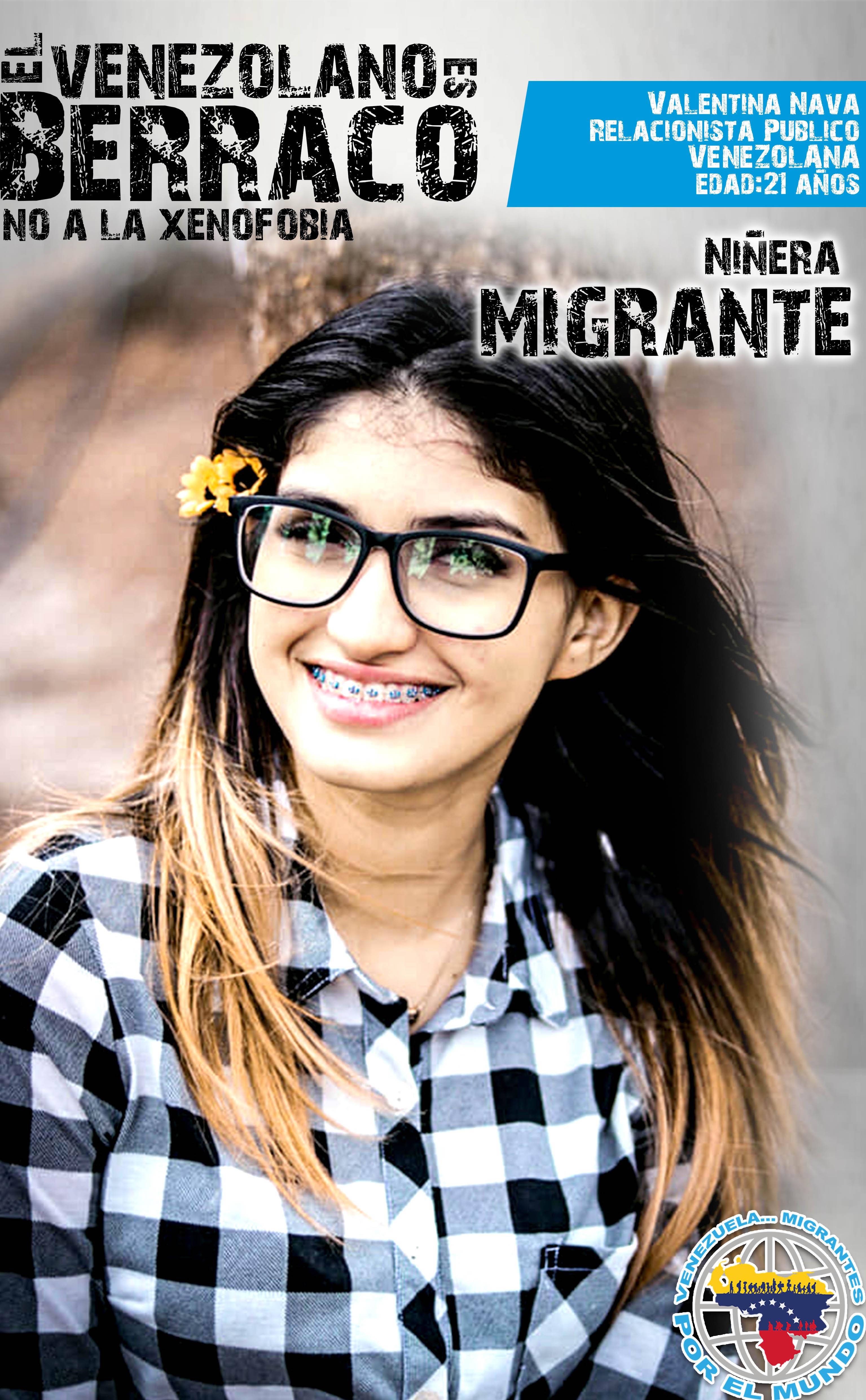Valentina es una migrante trabajando en Colombia.